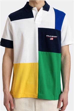 "Polo Ralph Lauren ανδρική πόλο μπλούζα colourblocked με κεντημένο logo ""Classic Fit Polo Sport Mesh"""