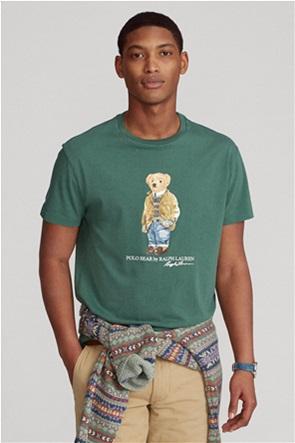 "Polo Ralph Lauren ανδρικό T-shirt με graphic print ""Custom Slim Fit Polo Bear"""