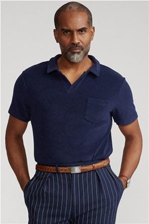 "Polo Ralph Lauren ανδρική πόλο μπλούζα με τσέπη ""Custom Slim Fit Terry"""