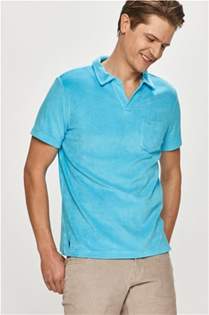 Polo Ralph Lauren ανδρική μπλούζα terry μονόχρωμη με απλικέ τσέπη στο στήθος