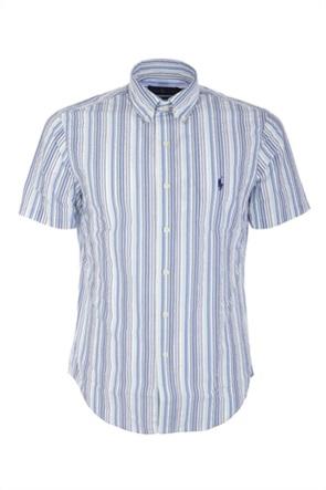 Polo Ralph Lauren ανδρικό πουκάμισο με ριγέ σχέδιο και κεντημένο λογότυπο