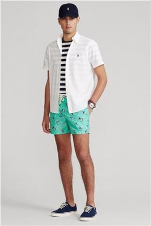 "Polo Ralph Lauren ανδρικό μαγιό βερμούδα με print ""Traveler Slim Fit"""