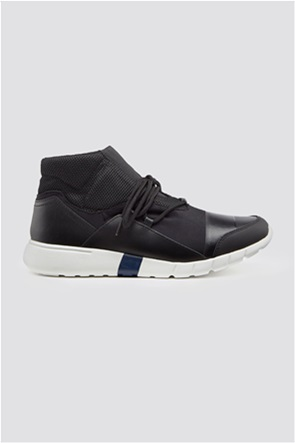 Trussardi Jeans ανδρικά μποτάκια sneakers High top running