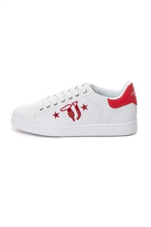 Trussardi ανδρικά sneakers με brand logo print στο πλάι
