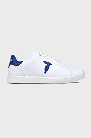 Trussardi ανδρικά sneakers με κορδόνια και logo patch