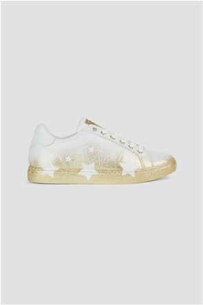 Trussardi Jeans γυναικεία sneakers με glitter λεπτομέρειες Stars