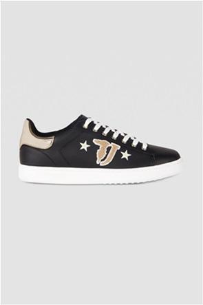 Trussardi γυναικεία sneakers με ανάγλυφο λογότυπο