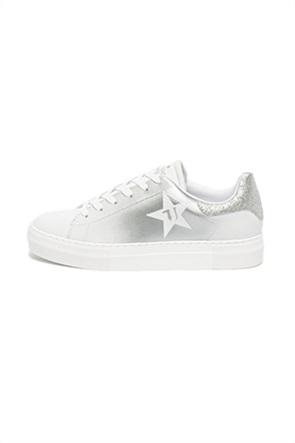 Trussardi γυναικεία sneakers με glitter