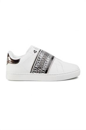Trussardi γυναικεία sneakers με logo print