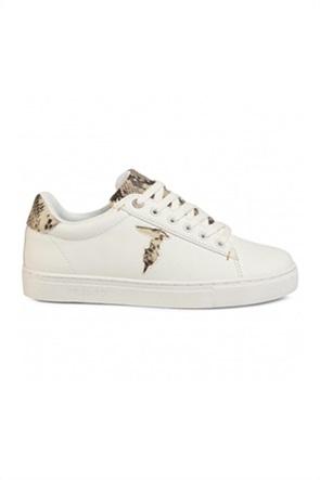 Trussardi γυναικεία sneakers με snake print