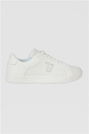 Trussardi Jeans γυναικεία sneakers με διάτρητο σχέδιο και κεντημένο logo