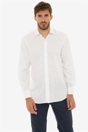 The Bostonians ανδρικό πουκάμισο μονόχρωμο με μακρύ μανίκι (sizes 39-46)