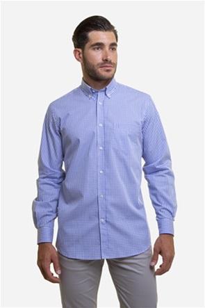 The Bostonians ανδρικό βαμβακερό πουκάμισο με καρό σχέδιο