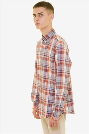 The Bostonians ανδρικό καρό πουκάμισο με μακρύ μανίκι