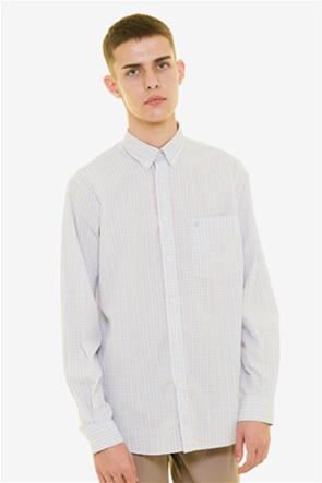 The Bostonians  ανδρικό καρό πουκάμισο με κεντημένο λογότυπο και τσέπη