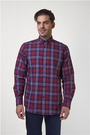 The Bostonians ανδρικό casual πουκάμισο με μεγάλο καρό print και λογότυπο
