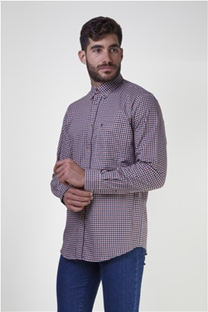 The Bostonians ανδρικό πουκάμισο με μικροσχέδιο καρό  (sizes 48-50)