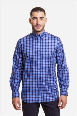 The Bostonians ανδρικό πουκάμισο καρό με μία τσέπη