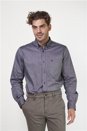 The Bostonians ανδρικό πικέ πουκάμισο μονόχρωμο