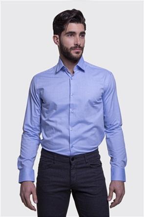 The Bostonians ανδρικό μονόχρωμο πουκάμισο με μακρύ μανίκι