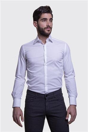 The Bostonians ανδρικό πουκάμισο μονόχρωμο Slim fit