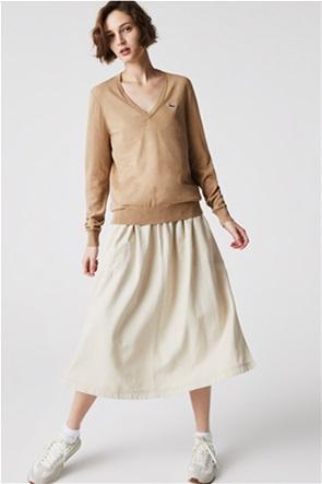 Lacoste γυναικείο πουλόβερ με V λαιμόκομψη