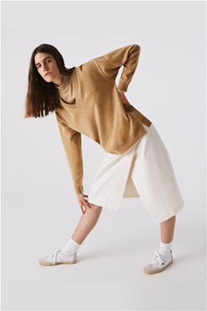 Lacoste γυναικεία πλεκτή μπλούζα με V λαιμόκοψη
