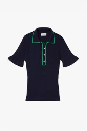 Lacoste γυναικεία μπλούζα πόλο πλεκτή