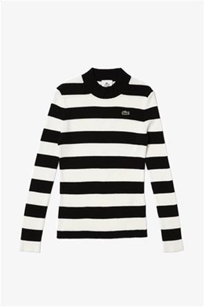 Lacoste γυναικείο πουλόβερ με ριγέ σχεδιο