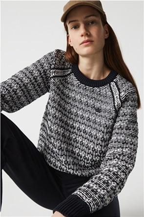 Lacoste γυναικείο πουλόβερ με κεντημένο λογότυπο