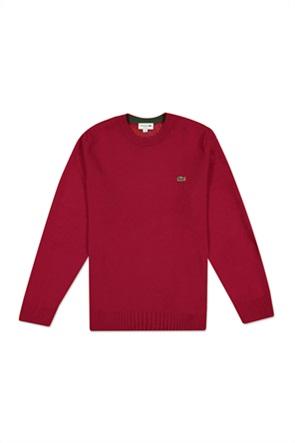 Lacoste ανδρική πλεκτή μπλούζα μονόχρωμη