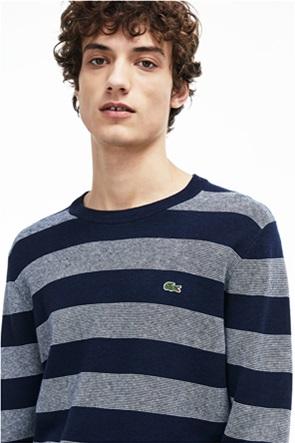 5cb8c257d721 ΓΡΗΓΟΡΗ ΑΓΟΡΑ. LACOSTE · Lacoste ανδρική ριγέ πλεκτή μπλούζα με στρογγυλή  λαιμόκοψη