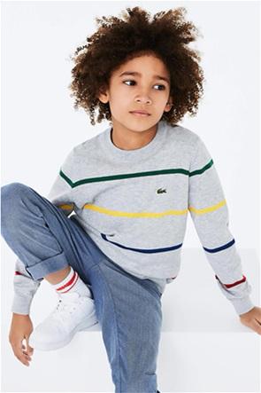 Lacoste παιδική πλεκτή μπλούζα ριγέ