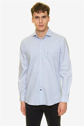 The Bostonians ανδρικό πουκάμισο με μικρό καρό και κεντημένο λογότυπο