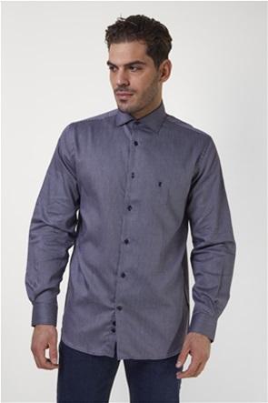 The Bostonians ανδρικό πουκάμισο με μικροσχέδιο πλεξούδα