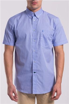 The Bostonians ανδρικό μονόχρωμο πουκάμισο με κοντά μανίκια