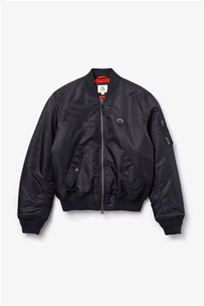 Lacoste unisex Oversized bomber jacket με μεγάλο λογότυπο στην πλάτη