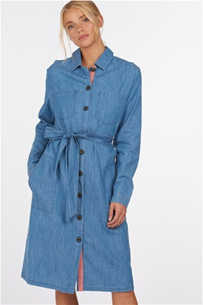 "Barbour γυναικείο midi denim σεμιζιέ φόρεμα με ζωνάκι ""Tynemouth"""