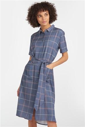 "Barbour γυναικείο midi σεμιζιέ φόρεμα καρό με τσεπάκια ""Brunswick"""
