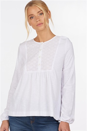 Barbour γυναικεία μακρυμάνικη μπλούζα με διακοσμητικό κέντημα στο στήθος