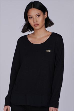 "Barbour International γυναικεία μπλούζα με τσέπη στο στήθος και layering τελειωμα ""Pace"""