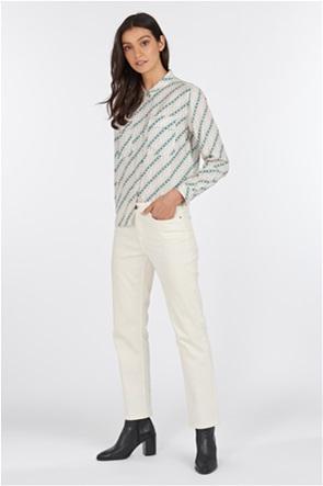 "Barbour γυναικείο μακρυμάνικο πουκάμισο με γεωμετρικό print και flap τσέπες ""Bellevue"""