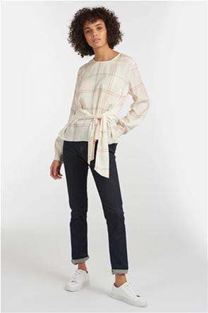 "Barbour γυναικεία μακρυμάνικη μπλούζα καρό με διακοσμητικό δέσιμο ""Balmory"""