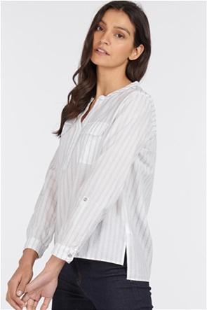 "Barbour γυναικεία πουκαμίσα ριγέ με flap τσέπες και πατιλέτα 1/2 ""Finstown"""