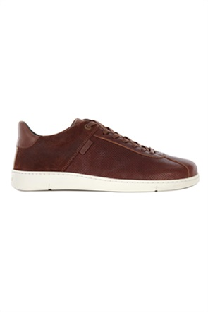 """Barbour ανδρικά δερμάτινα sneakers με suede επτομέρεια """"Bushtail"""""""