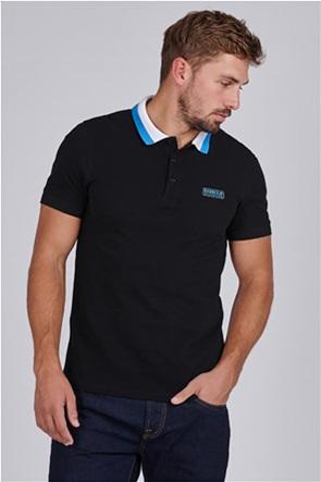 "Barbour International ανδρική πόλο μπλούζα με ρίγες και λογότυπο στο στήθος ""Ampere"""