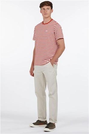 Barbour ανδρικό chino παντελόνι μονόχρωμο