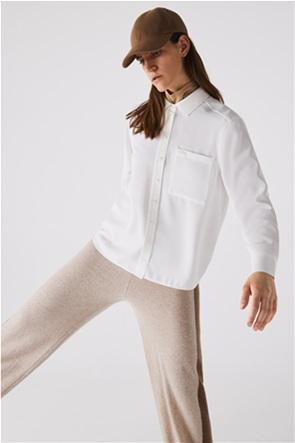 Lacoste γυναικείο πουκάμισο με τσέπη