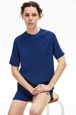 Lacoste γυναικείο T-shirt μονόχρωμο loose fit