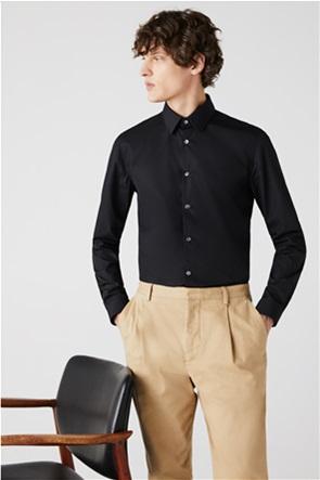 Lacoste ανδρικό μονόχρωμο πουκάμισο ποπλίνα